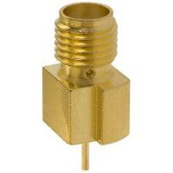 SMA konektor: SMA-5215-TGG-Schmid-M: SMA-5215-TGG Vysokofrekvenční konektor SMA female/jack do DPS ~ Johnson 142-0721-881 1608612 ~ WE 60312202114307 3583884