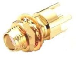 Vysokofrekvenční konektor: SMA-5229-TGG-Schmid-M: Vysokofrekvenční konektor SMA female/jack do DPS