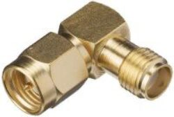 Vysokofrekvenční konektor: SMA-601-TGG-Schmid-M: SMA-601-TGG Vysokofrekvenční konektor SMA adapter R/A  Jack/Plug  ~ Huber Suhner 53_SMA-50-0-51/199_NE 22642655 ~ Rosenberger 32S221-K00L5 ~ Amphenol SMA5072A2-3GT50G-50 ~ Multicomp MP-19-20-TGG ~ Radiall R125771000