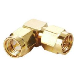 Vysokofrekvenční konektor: SMA-608-TGG-Schmid-M: SMA-608-TGG Vysokofrekvenční konektor SMA adapter Plug/Plur R/A ~ Amphenol Connex 132339 ~ AMP 1055047-1 ~ ADP-SMAM-SMAM90
