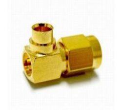 Vysokofrekvenční konektor: SMA-7111-TGG-Schmid-M: Vysokofrekvenční konektor SMA male/plug na Semi-rigid kabel 402/U