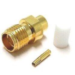 SMA-7203b-TGG-Schmid-M: vysokofrekvenční konektor SMA female/jack přímý na Semi-rigid kabel RG405