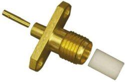 Vysokofrekvenční konektor: SMA-7241b-TGG-Schmid-M: Vysokofrekvenční konektor SMA female/jack panel na Semi-rigid kabel RG405