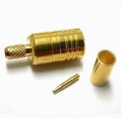 Coaxial Connector: SMB-1101-TGG - Schmid-M: RF Connector SMB Straight Crimp Plug/Male for RG174, RG188A, RG316 ~ Amphenol 142186 ~ Rosenberger 59K106-102L5 ~ Huber Suhner 11_SMB-50-2-40/111_NH 23017717 ~ Radial R114 083 000 ~ Multicomp 24-05L-15-TGG
