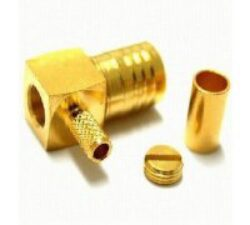 Coaxial Connector: SMB-1108-TGG - Schmid-M: RF Connector SMB R/A Crimp Plug/Male RG178, RG196 ~ Huber Suhner 16_SMB-50-1-40/111NE 22648053 ~ Radiall R 114 183 000 ~ Rosenberger 59K204-301L5