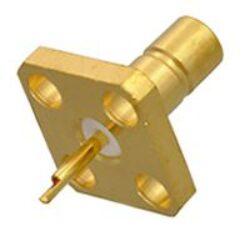 Vysokofrekvenční konektor: SMB-3201-TGG-Schmid-M: Vysokofrekvenční konektor SMB female/jack panelový 4 Hole Flange~ Radiall  2484-1511-000 ~ 2486-1511-000