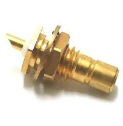 Vysokofrekvenční konektor: SMB-4201-TGG-Schmid-M: Vysokofrekvenční konektor SMB female/jack bulkhead ~ Huber Suhner 22_SMB-50-0-3/111NE 22640207 Radiall R114 554 000