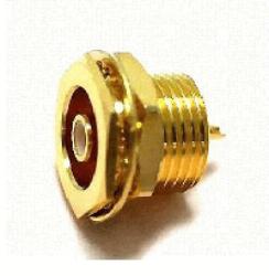 Vysokofrekvenční konektor: SMB-4203-TGG-Schmid-M: Vysokofrekvenční konektor SMB female/jack bulkhead; Huber+Suhner 22 SMB-50-0-11/111NE 22640210