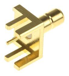 Vysokofrekvenční konektor: SMB-5205-TGG-Schmid-M: SMB-5205-TGG Vysokofrekvenční konektor SMB: Vysokofrekvenční konektor SMB Jack do DPS Edge Card ~ Johnson 131-3701-801 ~ Amhenol 903-518J-51P ~ Amphenol 142311