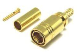 Vysokofrekvenční konektor: SMB-7101-TGG-Schmid-M: Vysokofrekvenční konektor SMB male/plug na Semi-rigid kabel RG 405 (0,141) ~ Huber Suhner 11_SMB-50-2-13/111NH 22658765 ~ Rosenberger 59K101-271L5 ~ Radiall R114053000