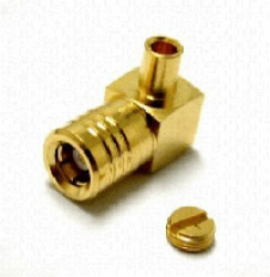 Coaxial Connector: SMB-7102-TGG - Schmid-M: RF Connector SMB R/A Plug for RG 405/U (0,085) ~ Huber Suhner 16_SMB-50-2-23/111NE 22644079 ~ Radiall R114169000 ~ Rosenberger 59K214-271L5