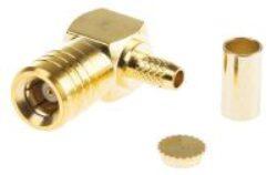 Vysokofrekvenční konektor: SMB75-1102-TGG-Schmid-M: Vysokofrekvenční konektor SMB (75 Ohm) male/plug na Semi-rigid kabel RG 179B, 187A