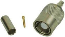 Vysokofrekvenční konektor: SMB75-1104-TGG-Schmid-M: Vysokofrekvenční konektor SMB (75 Ohm) male/plug na Semi-rigid kabel RG 735A