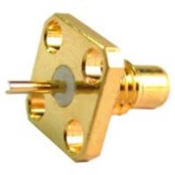 Coaxial Connector: SMC-3201-TGG-Schmid-M: RF Connector SMC Square Flange Jack Receptacle