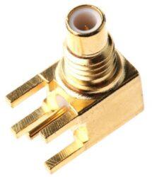 Vysokofrekvenční konektor: SMC-52021b-TGG-Schmid-M: Vysokofrekvenční konektor SMC: Vysokofrekvenční konektory SMC female/jack do DPS R/A ~ Huber Suhner 85_SMC-50-0-1/111_NE 22640326 ~ 22652987~ Amhenol 903 -378J-52A ~ Amhenol 152123 ~ Multicomp 26-10-TGG ~ Radiall R1126650