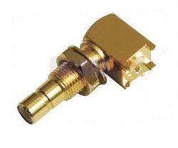 Vysokofrekvenční konektor: SSMB-5214-TGG-Schmid-M: Vysokofrekvenční konektor SSMB: RF Connector SSMB 90° Jack/Female PCB SMT