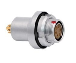 Connector: 0FZ13G09KLN - MOCO: Connector 0FZ13G09KLN 0F series black chrome 9 pin vacuum-tight fixed socket