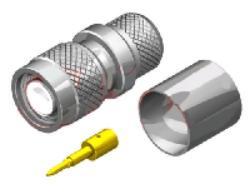 Vysokofrekvenční konektor: TNC-1119-TGN-Schmid-M: Vysokofrekvenční konektor TNC male/plug krimpovací na kabel  LMR500
