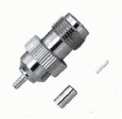 Vysokofrekvenční konektor: TNC-1211-TGN-Schmid-M: Vysokofrekvenční konektor TNC female/jack krimpovací na kabel RG 174, 188A, 316; Huber+Suhner 21 TNC-50-2-2/133NE 22640515