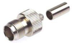 Vysokofrekvenční konektor: TNC-1226-TGN-Schmid-M: TNC-1226-TGN Vysokofrekvenční konektor TNC female/jack krimpovací na kabel LMR400, přímý ~ Huber Suhner 21_TNC-50-7-1/133_NE 84128527