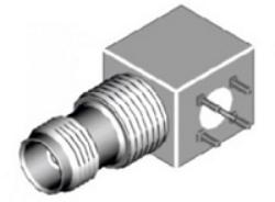 Vysokofrekvenční konektor: TNC-5205-TGN-Schmid-M: Vysokofrekvenční konektor TNC female/jack do DPS