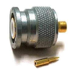 Vysokofrekvenční konektor: TNC-7102-TGN-Schmid-M: Vysokofrekvenční konektor TNC male/plug na Semi-rigid kabel RG 405/u (0,085)