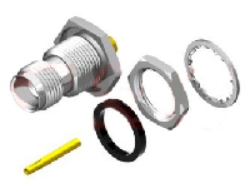 Vysokofrekvenční konektor: TNC-7206-TGN-Schmid-M: Vysokofrekvenční konektor TNC female/jack na Semi-rigid kabel RG 402/u (0,141)
