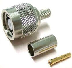 Vysokofrekvenční konektor: TNC75-1104-TGN-Schmid-M: Vysokofrekvenční konektor TNC: Vysokofrekvenční konektor TNC male/plug krimpovací na kabel 75Ohm RG179B, RG 187A