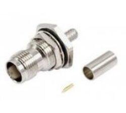 Vysokofrekvenční konektor: TNC75-1208-TGN-Schmid-M: Vysokofrekvenční konektor TNC: Vysokofrekvenční konektor TNC female/jack šroubovací na kabel 75Ohm RG187