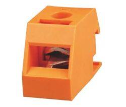 Trafo svorka: TS4-01P-1C-11AH Yellow-Green-Degson: Trafo svorka Pitch:13,0mm ; 1-pólová 32A/250V -40+105°C žluto-zelená