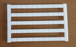 Popisové štítky: TZB4-50P-19-00A(H)-Degson: Popisové štítky TZB4-50P-19-00A(H) RM = 7,5mm; 50Pólů, bez čísla