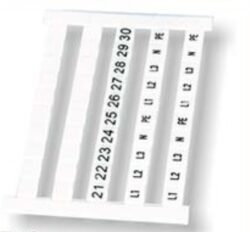 Popisové štítky: TZB4-50P-19-00A(H)-Degson: Popisové štítky TZB4-50P-19-00A(H) RM = 7,5mm; 50Pólů