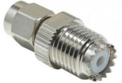 Mini UHFj-SMAp-624-TGN-Schmid-M: Vysokofrekvenční adapter Mini UHF Jack - SMA Plug