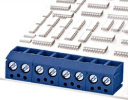 DG340R-3.81-02P-12-00A(H)-Degson: Svorkovnice do DPS šroubovací RM 3,81 ;  2 pólová, Vert.-90°,10A/250VDC, H=7,00mm,B=8,30mm