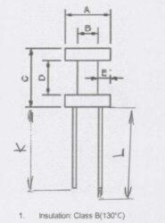 Patron: DRW6X8-2,4WO-6X33-38-Jádro 6x8mm pro vývodové tlumivky