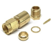 RF Coaxial Connectors SMA Male/Plug Clamp For Cable