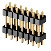 Lišty vidlice RM 1,27mm dvouřadé přímé, dvě izolace