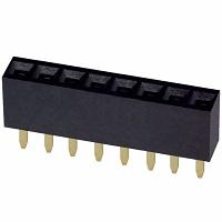 Zásuvky 2,54; THT přímé  H=8,5mm