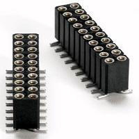 Precizní lišty RM 2,54mm dvouřadé SMD