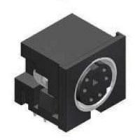 Mini DIN Socket do DPS plastový