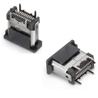 Konektory USB typ  C 3.1 Female 90°