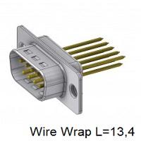 D-Sub Wire Wrap Male