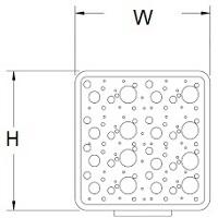 EMC FOF obdélníkový a čtercový H = 10-19mm
